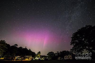 Aurora Over Sagadahoc Bay Campground Poster