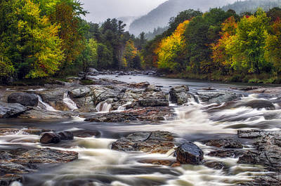 Poster featuring the photograph Ausable Cascades by Mark Papke