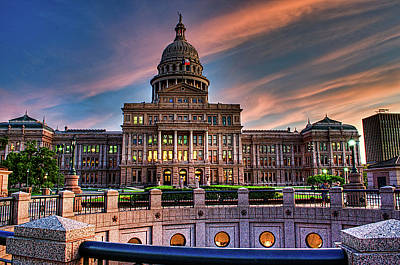 Poster featuring the photograph Austin Capitol by John Maffei