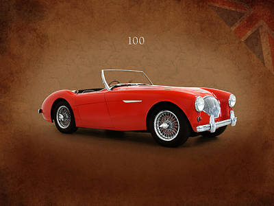 Austin Healey 100 1955 Poster by Mark Rogan