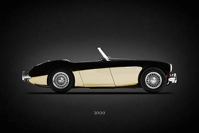 Austin Healey 3000 Poster by Mark Rogan