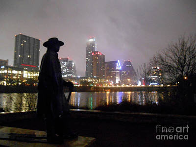 Austin Hike And Bike Trail - Iconic Austin Statue Stevie Ray Vaughn - One Poster