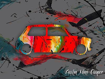 Austin Mini Cooper Poster by Marvin Blaine