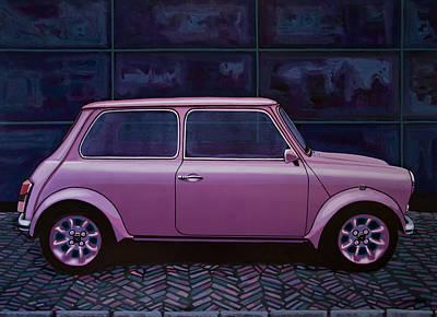 Austin Mini Cooper 1964 Painting Poster