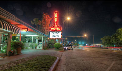 Poster featuring the photograph Austin Motel by John Maffei