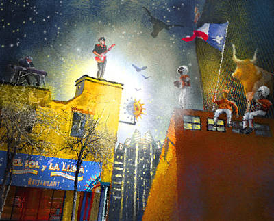 Austin Nights 03 Poster by Miki De Goodaboom