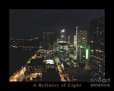 Austin Nights A Refinery Of Light Poster by Felipe Adan Lerma