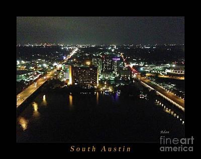 Austin Nights South Austin Poster by Felipe Adan Lerma