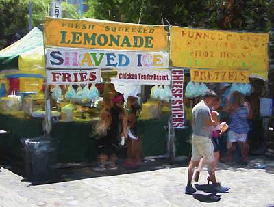 Austin Pecan Street Food Stand Poster