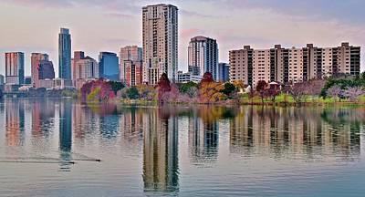 Austin River Walk Sunset Poster
