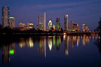 Austin Skyline Poster by Mark Weaver