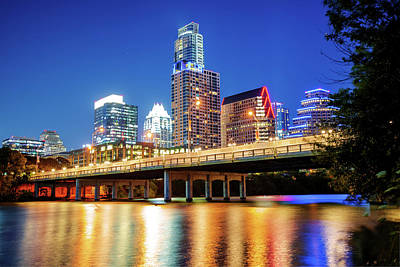 Austin Skyline On The River - Texas Capitol Poster
