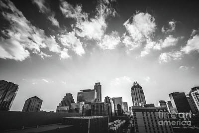 Austin Texas Black And White Photography Poster