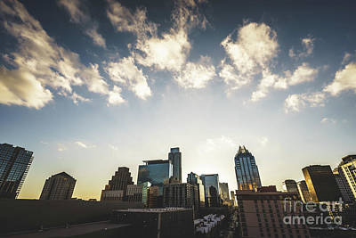 Austin Texas Downtown Buildings Photo Poster