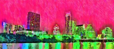 Austin Texas Skyline 106 - Da Poster