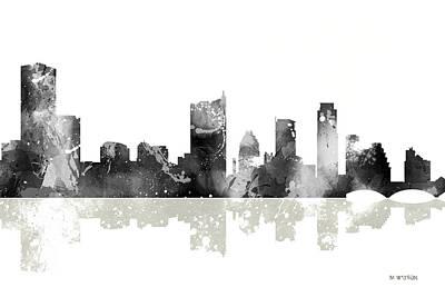Austin Texas U.s.a. Skyline Poster by Marlene Watson