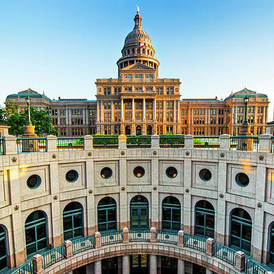 Austin Texas Usa State Capitol - Color Edition - 1x1 Poster