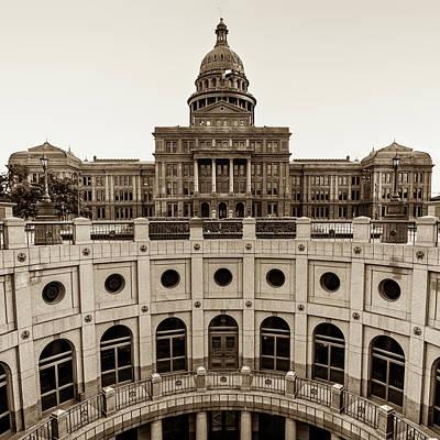 Austin Texas Usa State Capitol - Sepia Edition - 1x1 Poster