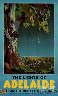 Australia Adelaide Restored Vintage Travel Poster Poster