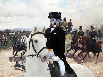 Australian Cattle Dog Art - The Return From Capannelle Poster