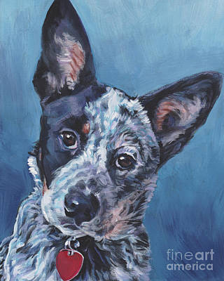 Poster featuring the painting Australian Cattle Dog by Lee Ann Shepard