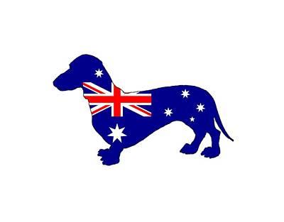 Australian Flag - Dachshund Poster