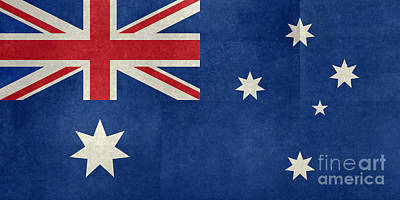 Australian Flag Vintage Retro Style Poster by Bruce Stanfield