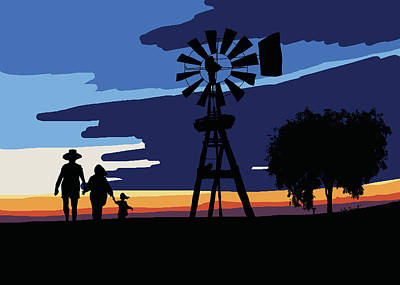 Australian Outback Sunset Poster by Kate Farrant