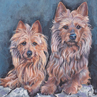 Poster featuring the painting Australian Terriers by Lee Ann Shepard