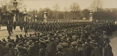 Australians Anzac Parade, 1919, By Herbert Green Poster by Celestial Images