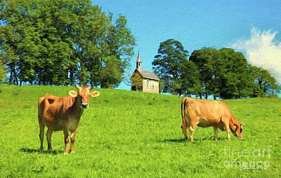 Austrian Cows Poster