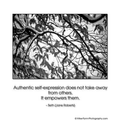 Authentic Self Expression Poster