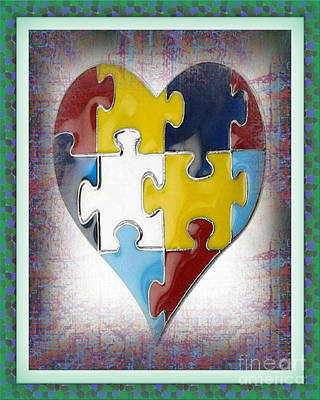 Autism--the Puzzle Of Our Autistic Heart Poster by Don Melton