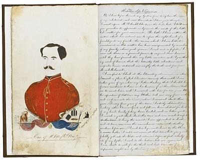 Autograph Manuscript Memoir Poster by MotionAge Designs
