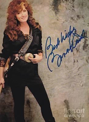 Autographed Bonnie Raitt Poster by Pd
