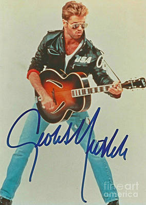 Autographed George Michael Poster by Pd