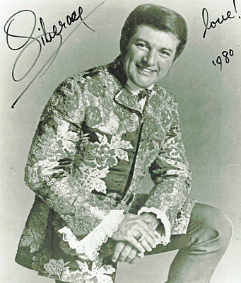 Autographed Liberace Photograph Poster by Pd