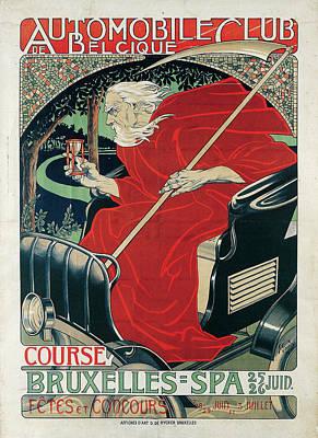 Automobile Club Belgique. Course Bruxelles Poster by MotionAge Designs