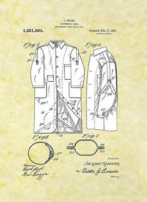 Automobile Coat Patent Poster