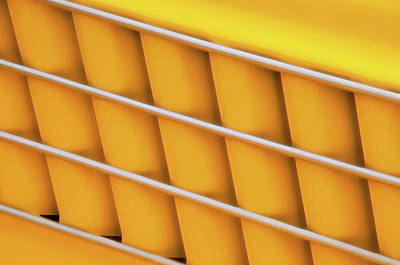 Autos As Art - Yellow Vehicle Graphic Poster by Mitch Spence