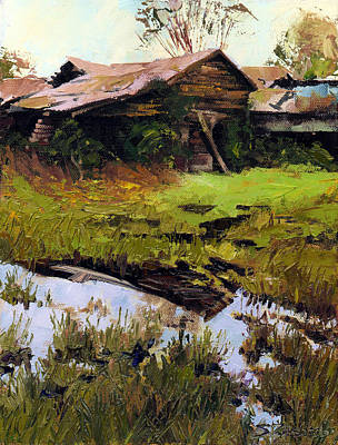 Poster featuring the painting Autum Countryside by Sergey Zhiboedov