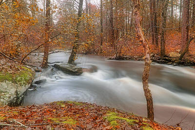 Autumn Along Cedar Creek - Arkansas - Petit Jean State Park Poster by Jason Politte
