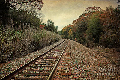 Autumn Around The Bend Poster by Lisa Holmgreen