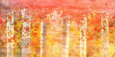 Autumn Aspens Poster by Brett Pfister