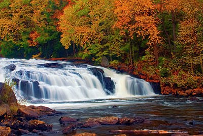 Autumn At Buttermilk Falls Poster by Tony Beaver