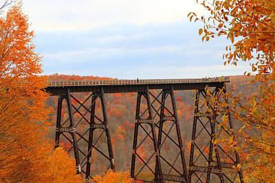 Poster featuring the photograph Autumn At Kinzua Bridge by Rick Morgan