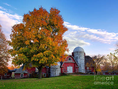 Poster featuring the photograph Autumn At Lusscroft Farm by Mark Miller