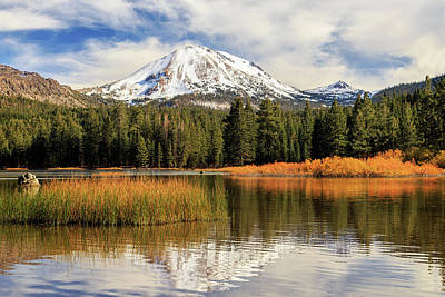 Autumn At Mount Lassen Poster