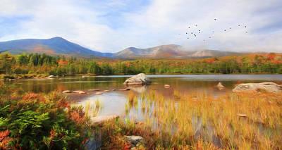 Autumn At Sandy Stream Pond Poster by Lori Deiter