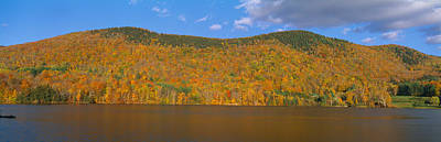 Autumn At Scenic Lake Near Woodstock Poster by Panoramic Images